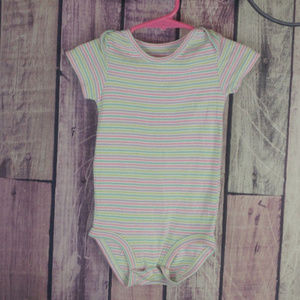 Other - pastel striped bodysuit girls size 9-12 month R36